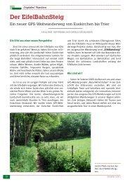Der EifelBahnSteig - Natur aktiv erleben