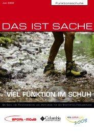 Funktionsschuhe DAS IST SACHE VIEL FUNKTION IM ... - sport+mode