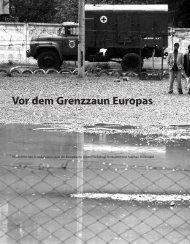 Vor dem Grenzzaun Europas - Hinterland Magazin