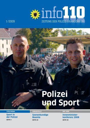 Polizei und Sport - Polizei Brandenburg - Brandenburg.de