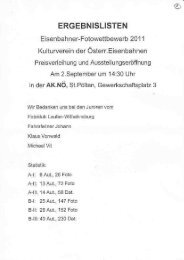 Ergebnis - Kulturverein der Österreichischen Eisenbahner