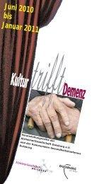 Kultur Demenz l - bei der Alzheimer Gesellschaft Duisburg