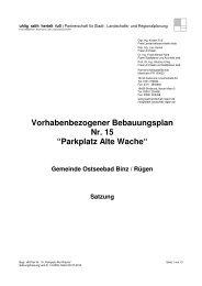 """Vorhabenbezogener Bebauungsplan Nr. 15 """"Parkplatz Alte Wache"""""""