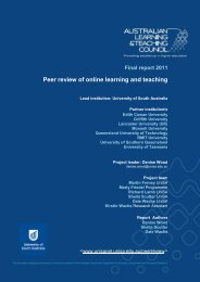 Peer review of online learning and teaching - Office for Learning and ...