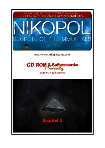 Nikopol - Lockes bebilderte Lösung zum 3. und 4 - Gamepad.de