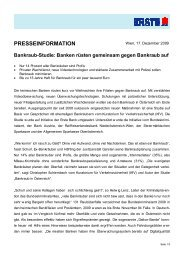 Bankraub-Studie: Banken rüsten gemeinsam gegen ... - Erste Group