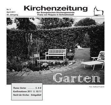 Kirchenzeitung 2011-03 April - Evangelische Kirchengemeinde ...