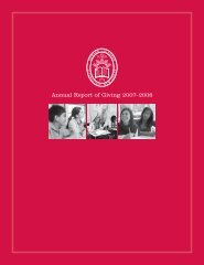 Annual Report of Giving 2007–2008 - Newark Academy