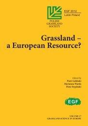 Grassland – a European Resource?