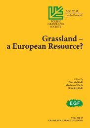 Grassland – a European Resource? - European Grassland Federation