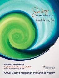 Annual Meeting Registration and Advance Program - American ...