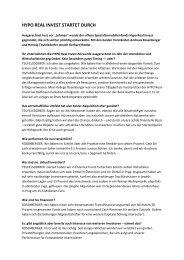HYPO REAL INVEST STARTET DURCH - IVG Austria AG