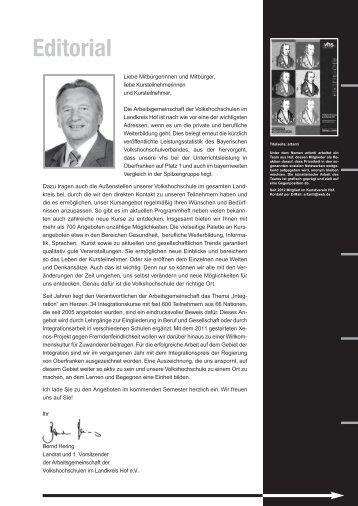 Beruf und Karriere - VHS Landkreis Hof