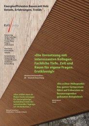 tri Flyer - Architekten Hermann Kaufmann ZT GmbH