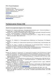 Publikationsliste Oktober 2008 - Verenum