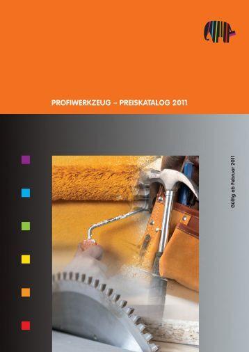 PROFIWERKZEUG – PREISKATALOG 2011 - Capatect