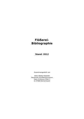 Flößerei- Bibliographie - Deutsches Schiffahrtsmuseum