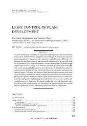 LIGHT CONTROL OF PLANT DEVELOPMENT