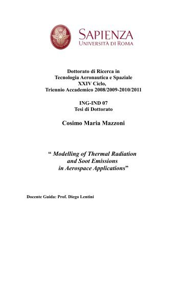 Chapter 1 Radiative heat transfer - Sapienza