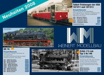 Preisliste 2008 - Weinert-Modellbau