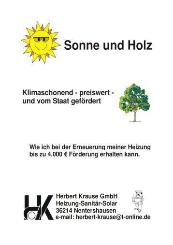 Sonne und Holz komplett - Herbert Krause GmbH