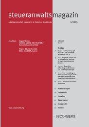 Ausgabe 01/2005 - Wagner-Joos Rechtsanwälte