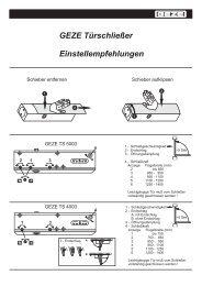 GEZE Türschließer Einstellempfehlungen - Wagner ...