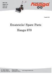Haaga 870 Ersatzteile - Wagner GmbH