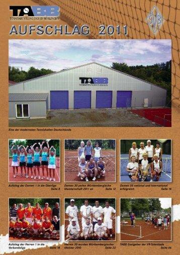 TABB-Aufschlag 2011 - Tennisabteilung SV Böblingen eV