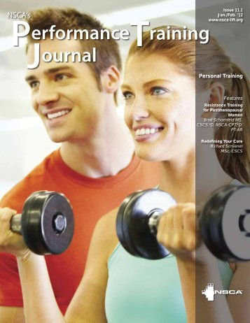 NSCA's Performance Training Journal | Issue 11.1 - Premier Fitness