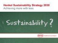 Henkel Sustainability Strategy 2030