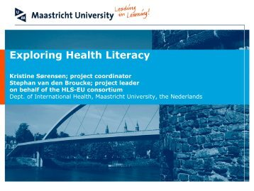 Exploring health literacy, Maastricht University