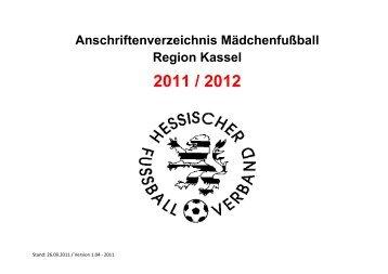 Ansprechpartner Mädchenfußball Altersklasse Name Adresse E ...