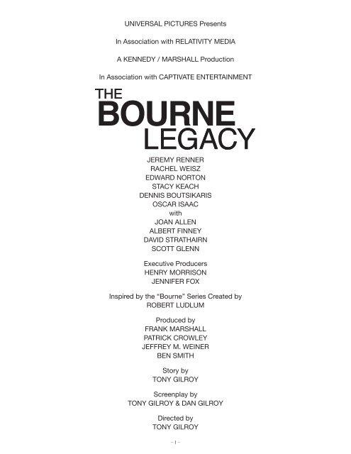 Bourne Legacy Pdf