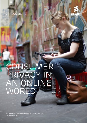 Consumer privacy in an online world - Ericsson