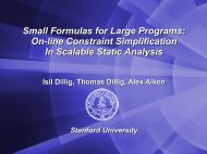 Small Formulas for Large Programs: On-line Constraint ...