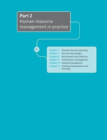 Part 2 Human resource management in practice - Palgrave