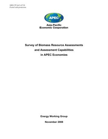 Survey of Biomass Resource Assessments and Assessment ... - NREL