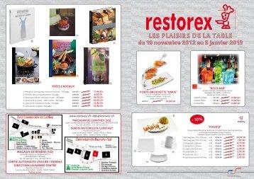 les plaisirs de la table du 19 novembre 2012 au 5 janvier ... - Restorex