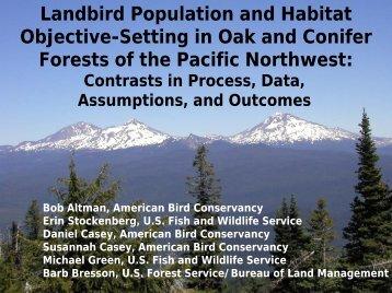 Landbird Population and Habitat Objective ... - Partners in Flight