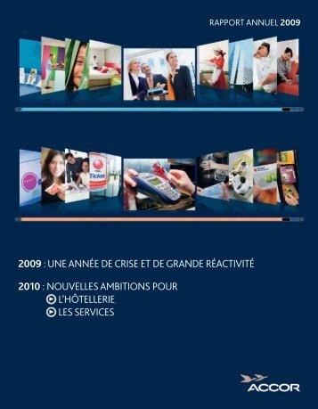 Rapport annuel 2009 - Accor