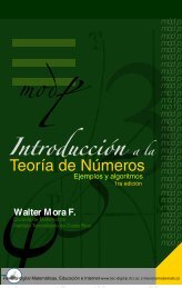 Introducción a la teoría de números. Ejemplos y - TEC-Digital