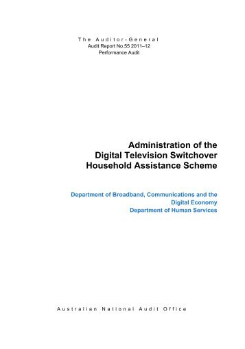 Administration of the Digital Television Switchover Household ...