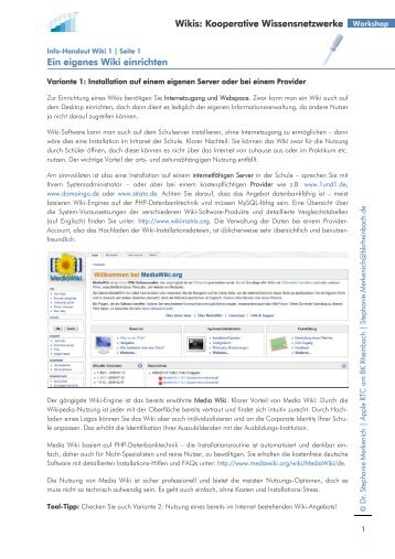 Arbeitsblätter Wiki - Foraus.de