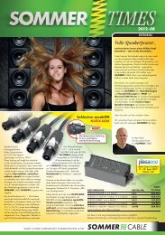 Volle Speakerpower... - Sommer Cable