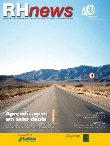 RHnews • novembro 2006 • Revista da Associação ... - ABRH-RJ