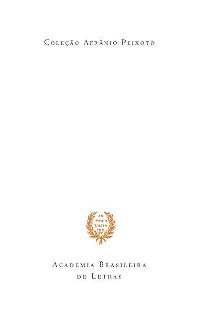 ABL-076 - Sonetos e rimas - L... - Academia Brasileira de Letras