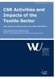 CSR Activities and Impacts of the Textile Sector - Research Institute ...