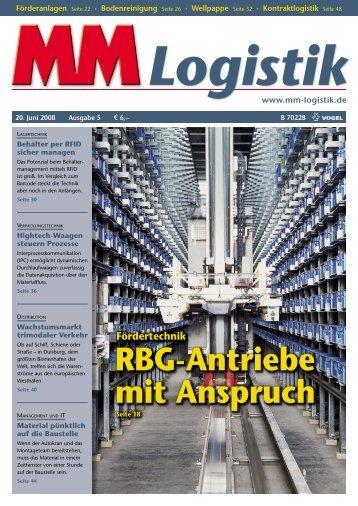 RBG-Antriebe mit Anspruch - MM Logistik