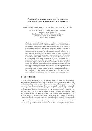 Automatic image annotation using a semi-supervised ensemble of ...